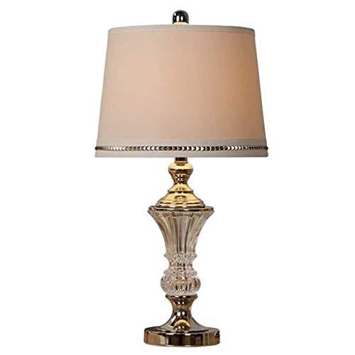 YWSZJ Moderna Lámparas de Mesa de Cristal de Sombra de Plata for Sala de Estar Familiar Dormitorio cabecera 360 de iluminación