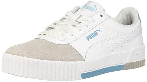 PUMA Carina Sneaker para mujer, blanco (Puma Blanco-Milky Azul-gris Violeta), 36 EU