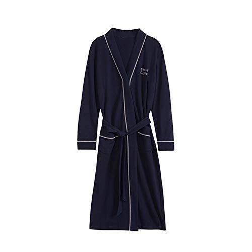 Unbekannt NAN Liang Cotton Männer-Pyjamas, Herbst und Winter In Fertilizer Bademantel Pyjamas Soft-Casual Wear L/XL/XXL/XXXL (Size : XXXL)