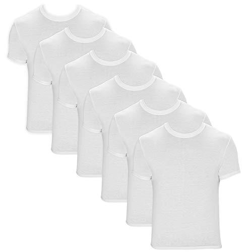 Kit 6 Camisetas Underwear, Hanes, Masculino, Branco, GG