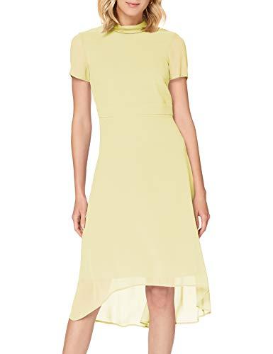 ESPRIT Collection Damen 030EO1E316 Kleid für besondere Anlässe, 760/LIME Yellow, 42
