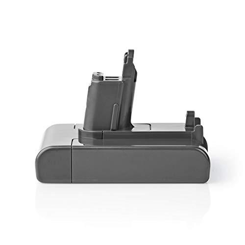 NEDIS Staubsauger-Batterie Staubsauger-Akku - Li-Ion - 22,2 V - 2 Ah - 44,4 Wh - 100% Kompatibler Ersatz für Serie Dyson DC35/DC57 (eingeführt Juni 2013 und später) Grau 120.4 mm