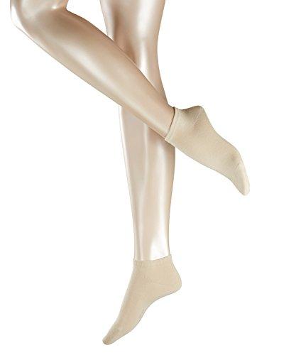 ESPRIT Damen Sneakersocken, 80prozent Baumwolle, Unifarben, weiche Baumwollmischung, Elfenbein (Cream 4011), 39/42, 2er Pack