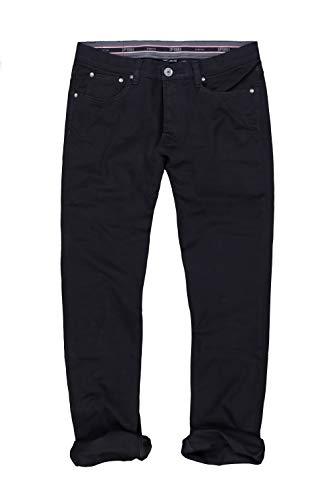 JP 1880 Homme Grandes Tailles Pantalon en Twill de Coton Noir 62 702613 10-62