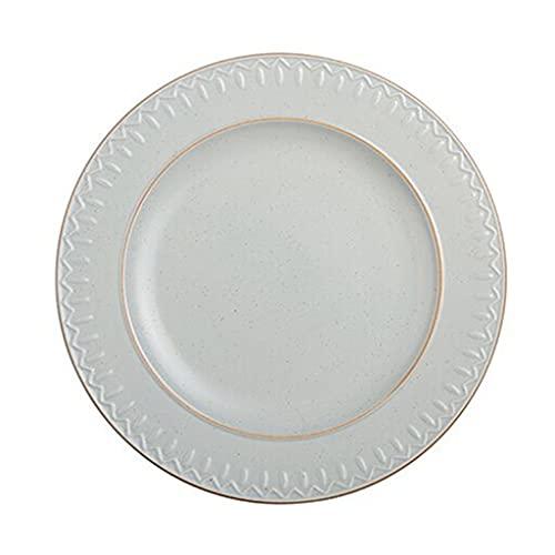 Platos occidentales esmerilados creativos, vajilla de cerámica, color bajo vidriado, diseño ondulado de cocción a alta temperatura, puede contener ensaladas, postres de frutas, horno de microondas,
