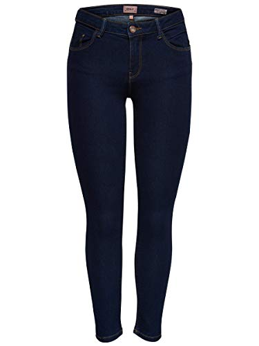 ONLY Damen Skinny Fit Jeans ONLDaisy reg Push up Ankle 2732Dark Blue Denim