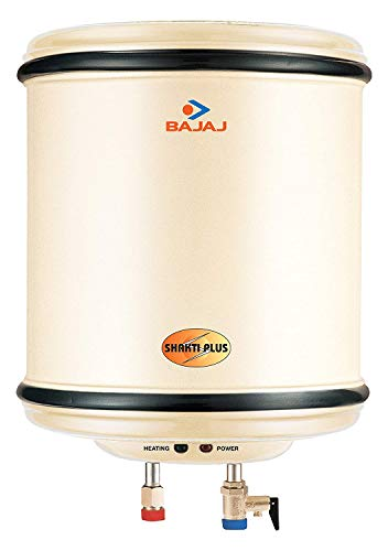 Bajaj Shakti Plus Storage 10-Litre Vertical Water Heater (Ivory)