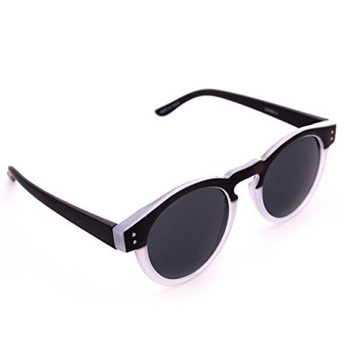 Gafas de sol de plástico mate negro y esmerilado con ojo de cerradura
