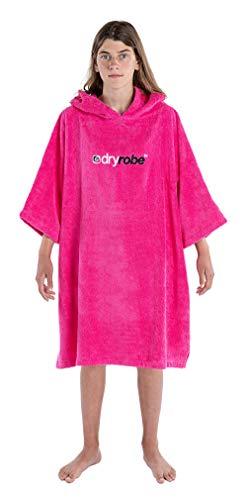 Dryrobe - Advance - Poncho de Toalla para cambiarse - Manga Corta - Niños S - 10-14 Años - Rosado