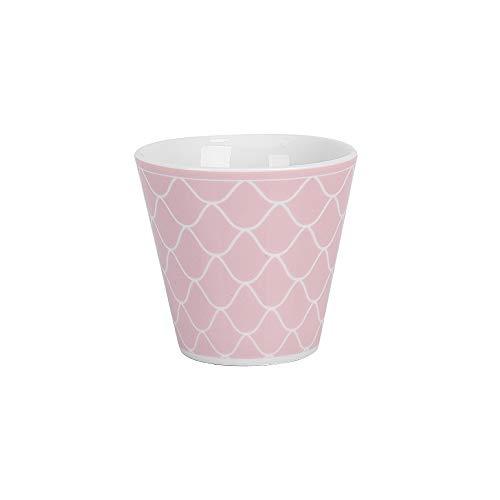Krasilnikoff - Espressotasse, Espressobecher - Mermaid - rosa, weiß - Höhe: 6 cm - ca. 90 ml - Porzellan