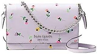 Kate Spade New York floreale convertibile borsa a tracolla chiusura con patta