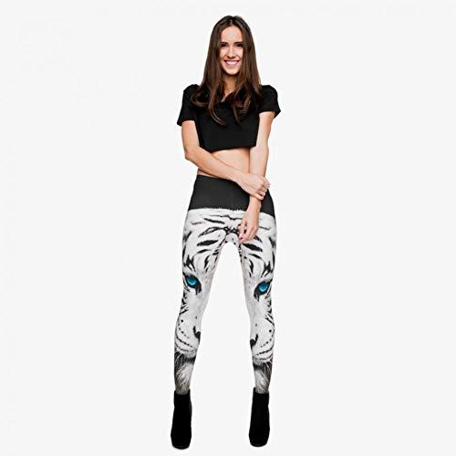 YUYOGAQ Lente herfst witte vrouwen Leggings Tiger 3D print Sport Yoga broek Workout Leggings Fitness Leggings Jeggings