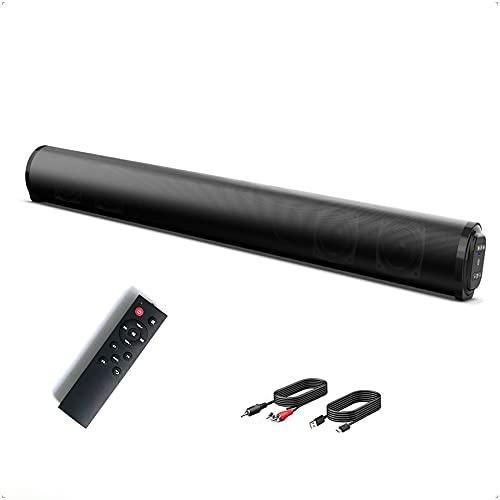 Barras de sonido Poesy, altavoces de TV con función de conexión Bluetooth 5.0, altavoces de cine en casa, compatibles con teléfonos inteligentes,tabletas, múltiples modos(Bluetooth, AUX, RCA, USB, TF)
