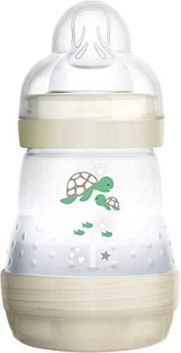 MAM Self Sterilising Anti Colic Bottles, 260ml 2-Pack, White