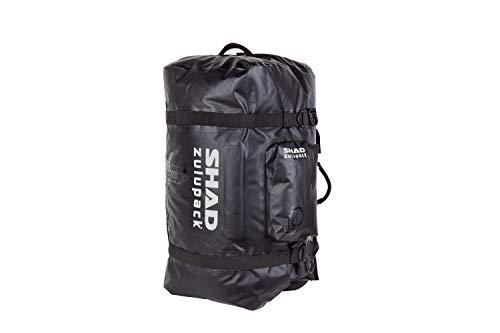 SHAD W0SB90 Travel Bag SW90 Bolsa Blanda para Motocicleta, Resistente al Agua, Color Negro