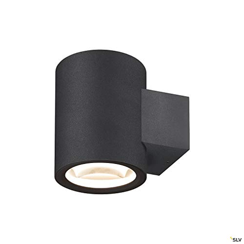 SLV OCULUS UP/DOWN WL - Lámpara de pared para interior (LED, 2000-3000 K, 15 W, 1110 lm, aluminio), color negro