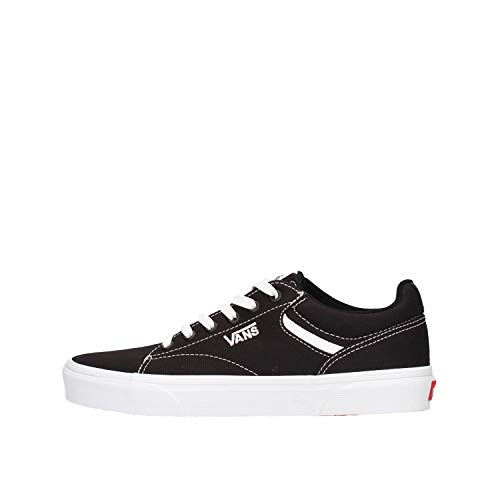 Vans Herren MN Seldan Sneaker, Schwarz ((Canvas) Black/White 187), 45 EU
