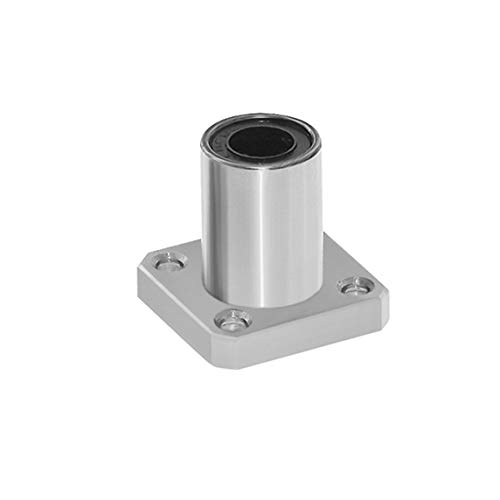 1PC LMK10UU dr:10mm Square Flange Type Linear Bearing Bushings for 3D Printer Linear Rod Stick Electric Tool CNC Parts-Silver
