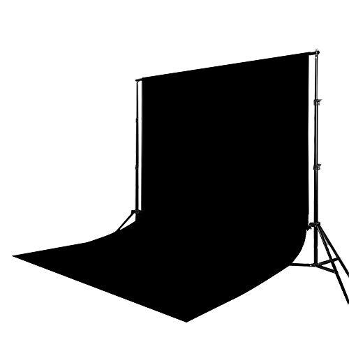 ningdeCK Fotografie Hintergrund Papier, Schwarzlicht absorbierendes Tuch, Nicht reflektierendes Fotografie Hintergrund Tuch, Schwarz Samt Schießen Requisiten Foto Hintergrund Tuch für Fotoshooting