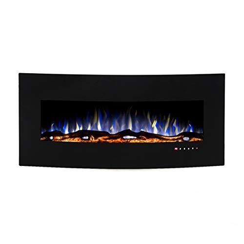 Art Flame, Chimenea eléctrica de pared Archi, Calefacción de superficie 15 m², Control Remoto