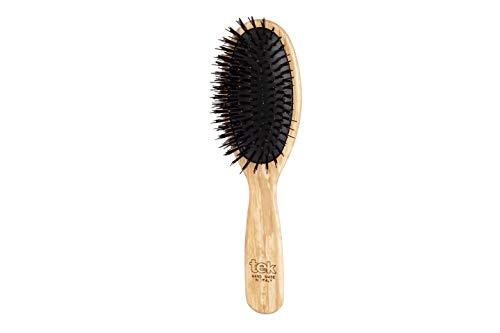 Tek gran cepillo ovalado con un jabalí ecológico y cerdas de nylon -...