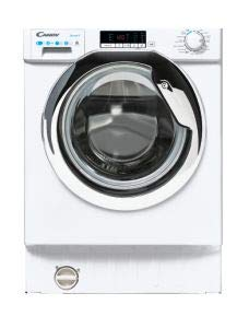 Candy CBD485D2CE 8KG Wash & 5KG Dry Built in Washer Dryer - White with Chrome Door