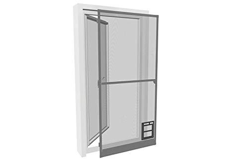 pro insect Insektenschutz-Tür PRO mit Katzenklappe 100x210cm, anthrazit