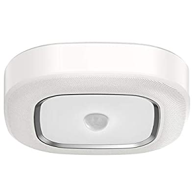 Motion Sensor Ceiling Light Battery Operated Yurnero Ultra Bright Motion Activated Night Light Indoor Wireless LED Ceiling Light Battery Powered for Stairway Laundry Basement,Daylight 300LM