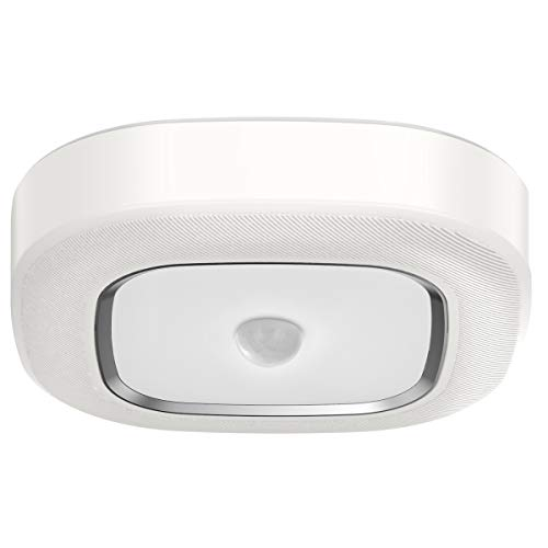 Motion Sensor Ceiling Light Battery Operated,Yurnero Ultra Bright Motion Activated Night Light Indoor Wireless LED Ceiling Light Battery Powered for Stairway Laundry Basement,Daylight 300LM