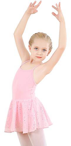 Vestito da Balletto Body per Ragazza Dance Body Tutu Cotone con Gonna a Stella Bling in Chiffon