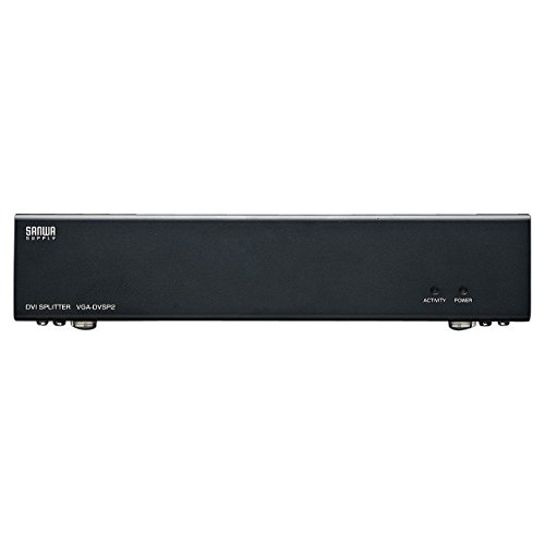 サンワサプライフルHD対応DVIディスプレイ分配器(2分配)VGA-DVSP2