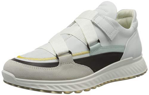 ECCO ST.1W, Zapatillas para Mujer, Blanco (Shadow White/Black/White/Eggshell Blue 51882), 41 EU