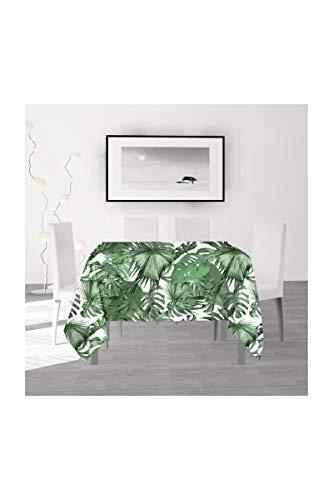 Soleil d'Ocre Noumea - Mantel, poliéster, 180 x 180 cm, Color Verde