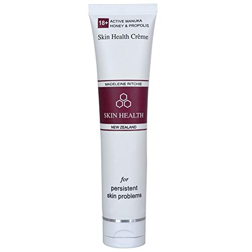 Madeleine Ritchie New Zealand 18+ Active Manuka Honey & Propolis Skin Health Creme for healing of persistent skin problems 40ml. Excellent for Eczema, Psoriasis, Dermatitis, Acne and Dry Skin.