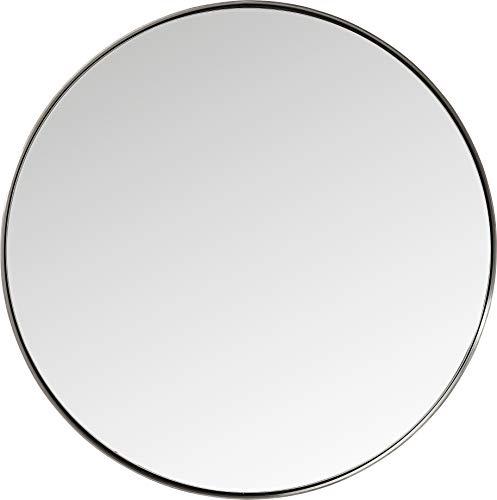 KARE 4.02562E+12 Espejo De Pared Redondo, Antracita, 100 x 100 x 5 cm