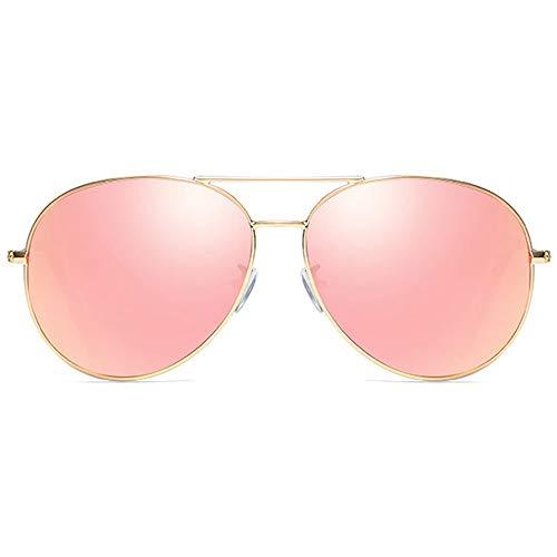 DKee Gafas De Sol Clásicas De Metal con Montura Dorada, Púrpura/Rosa/Púrpura, Lentes De Color Rosa for Hombres Y Mujeres con Las Mismas Gafas De Sol Polarizadas. Gafas de Sol (Color : Pink)
