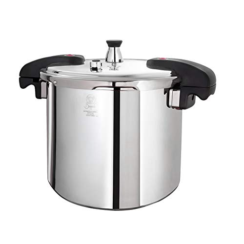 Buffalo QCP415 15-Quart Stainless Steel Pressure Cooker [Classic series]