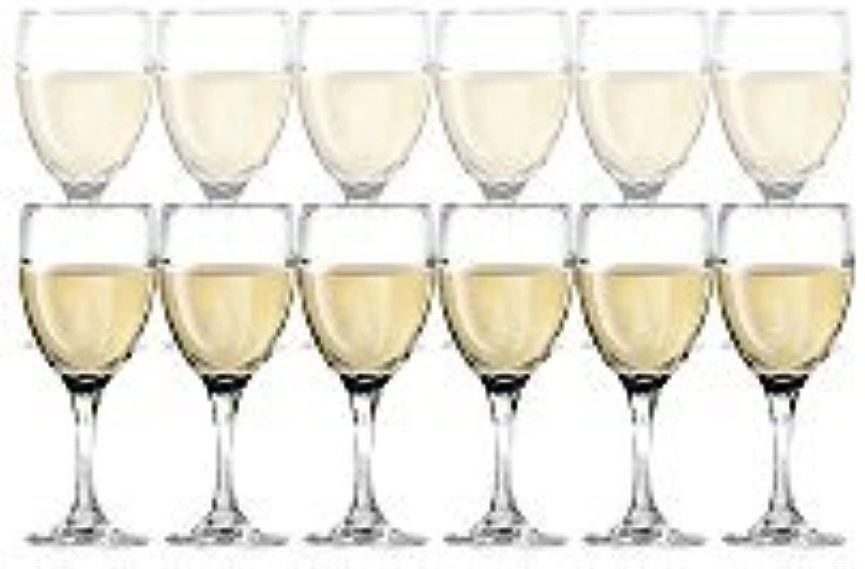 DailywareTM Set Of 12 White Wine Glasses 10 25 Oz By Dailyware
