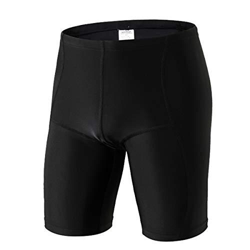SABOLAY Mens Swim Jammer Swimming Trunks Swimsuit Aquashorts Water Shorts Black Quick Dry