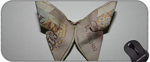 Podkładka pod mysz antypoślizgowa, białe baumblife motyle motyl egzotyczne Exot Spersonalizowane Prostokąt Gaming Podkładki pod mysz