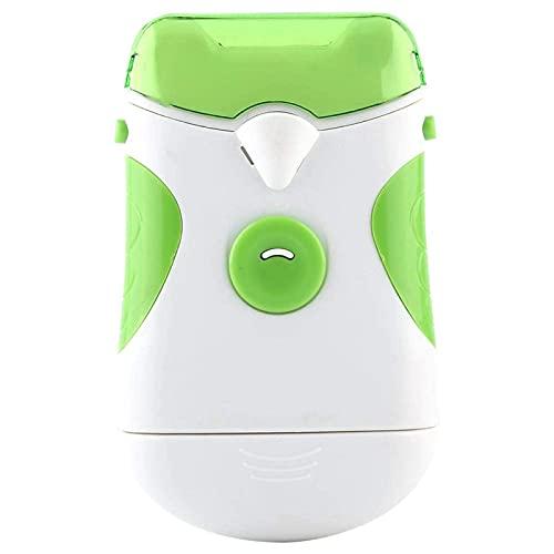 LANTRO JS - Coupe-Ongles électrique, Lime À Ongles ÉLectrique avec Lampe LED, Outil de Soin des Ongles Portable pour bébés et Adultes(sans Batterie)