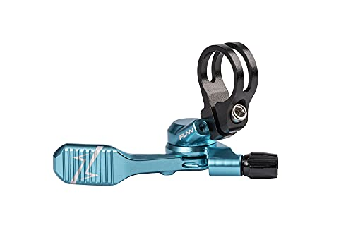Funn UpDown Mountain Bike Dropper Seatpost Remote Lever with Smooth, Easy-to-use Action, 4-Way Mount, Full CNC Finish, Lightweight and Stiff (Turquoise)