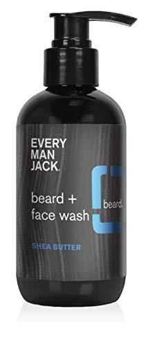 Every Man Jack Beard + Face Wash - Shea Butter | 6.7-ounce - 1 Bottle | Naturally Derived, Parabens-free, Pthalate-free, Dye-free, and Certified Cruelty Free