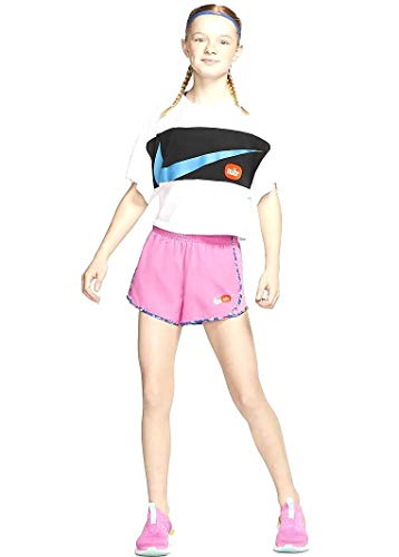 Nike CT8987-693 - Pantaloncini da Corsa, Magic Flamingo/Emerald Rise, S Girls