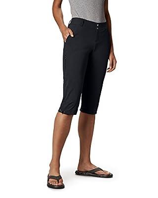 "Columbia Women's Saturday Trail II Knee Pant ,Black,10 x 18"" inseam"
