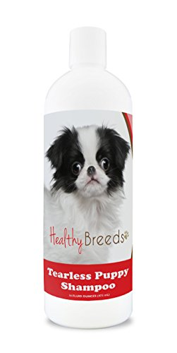 Healthy Breeds Puppy Shampoo Tear Free for Japanese Chin - OVER 100 BREEDS - Nourishes & Moisturizes for Growth - Safe with Flea and Tick Topicals - 16 oz