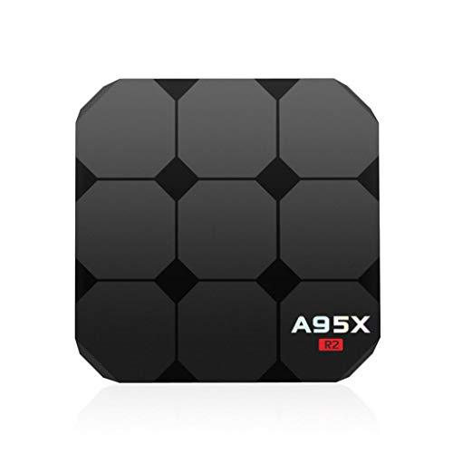 Difcuy A95X R2 Smart TV Box,Android 7.1,Quad Core Cortex-A53,2+16GB,4K HD,WiFi,HDMI,Memory Card Support,Remote Controller,TV Set-Top Box Media Player - US Plug
