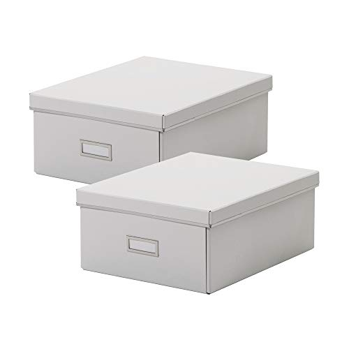 IKEA SMARASSEL Large Storage Boxes A4 27 x 35 x 15 cm White (Pack of 2)