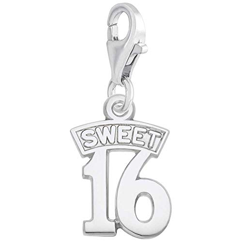 Rembrandt Charms Sweet 16 Charm with Lobster Clasp, Sterling Silver