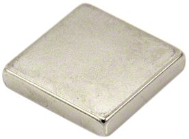 First4magnets F425-1 25 x 25 x 5 mm dicken N42 Neodym-Magneten-11kg Pull (1 Packung), silver, 25 x 10 x 3 cm